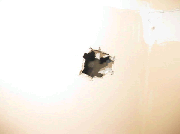 How to fix a hole in drywall - hole