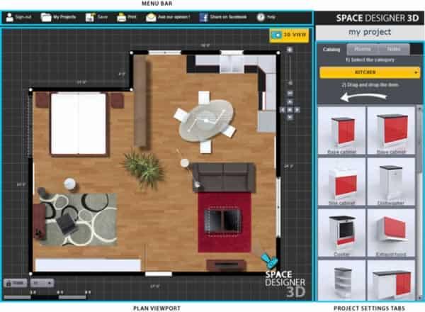 Best free home design software - Space Designer