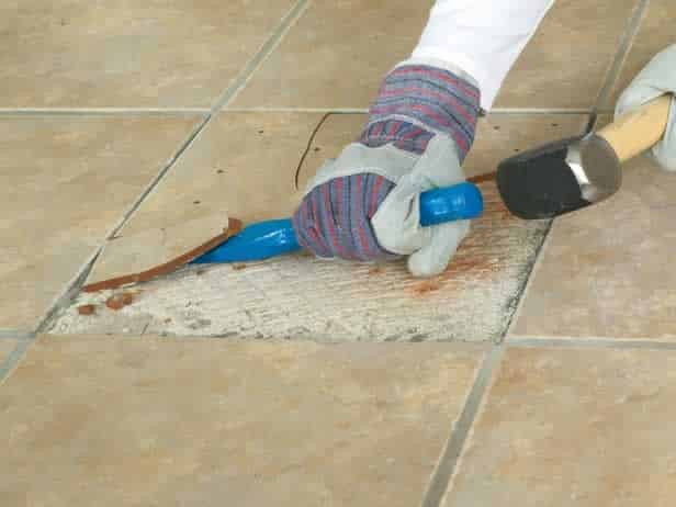 How to lay tiles - removing