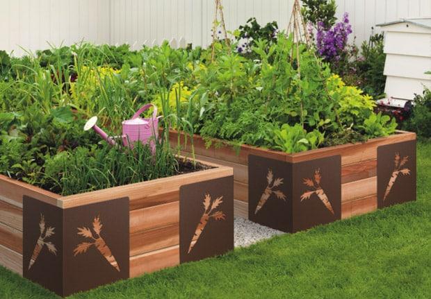 How to shape a garden - vegetable garden