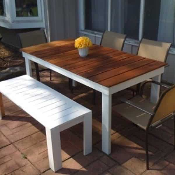 how to make your own garden table handyman tips. Black Bedroom Furniture Sets. Home Design Ideas