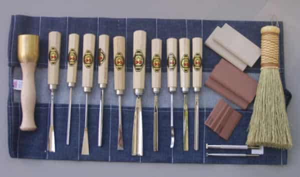 Wood carving tools - Two cherries