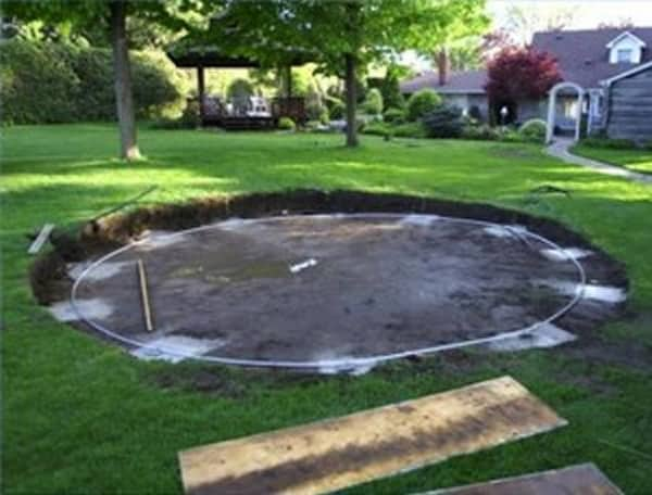 above ground pool site