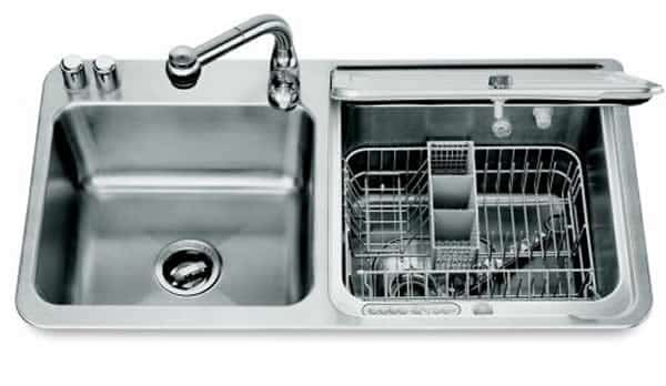 sink and dishwasher
