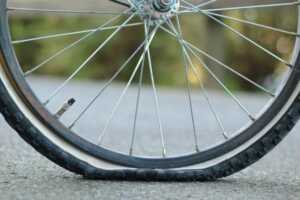 flat tire on bike