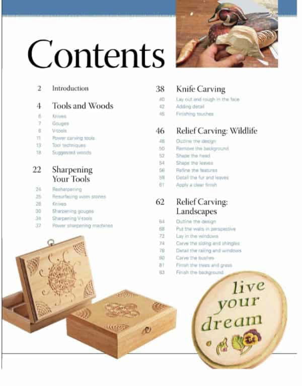 wood carving basics content