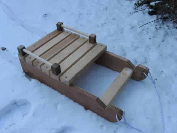DIY snow sled
