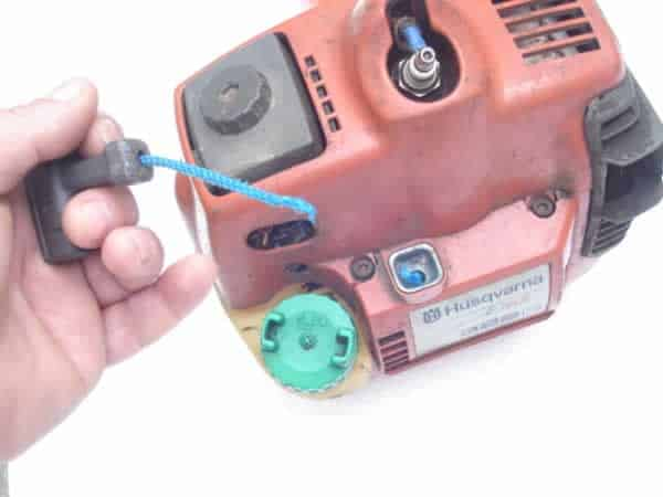 How to replace broken starter rope