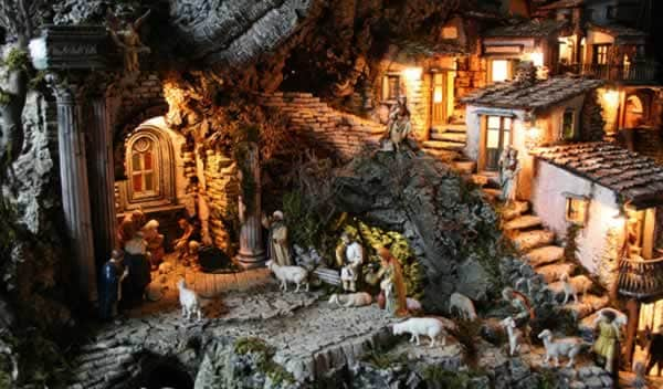 nativity scene in Italy