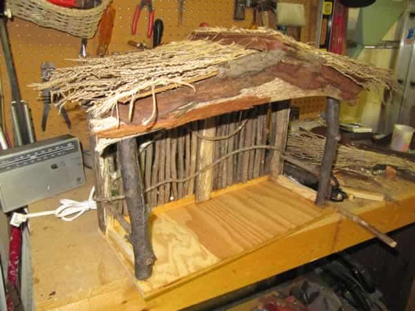 Christmas nativity scene stable