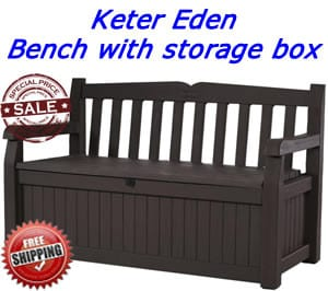 Bench with storage box