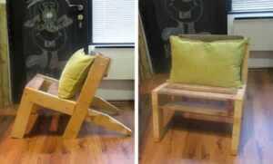 pallet garden chair - indoor