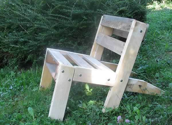 How to make pallet garden chair