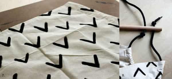 DIY swing - painted cloth