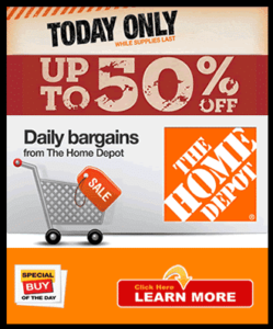 home depot daily sale