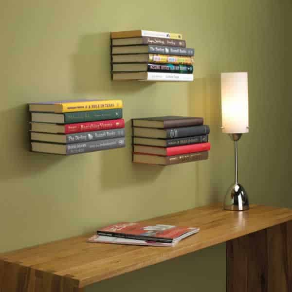 DIY invisible bookshelf cover