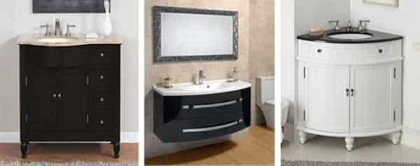 How to choose a bathroom vanity - types