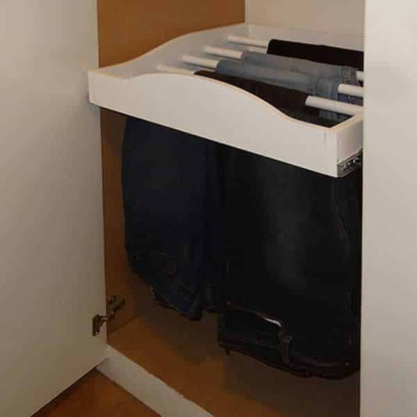 DIY pull out clothes rack - clothes