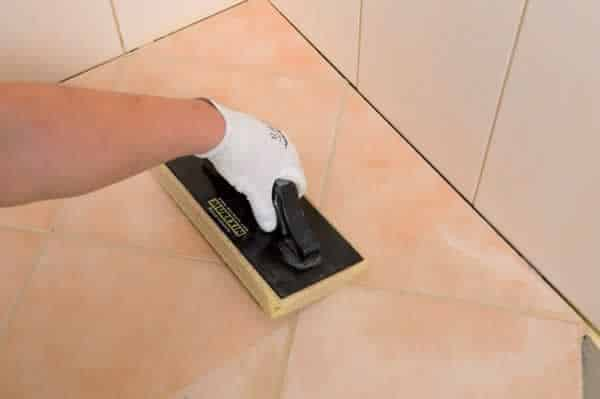 How to tile a bathroom floor - grout