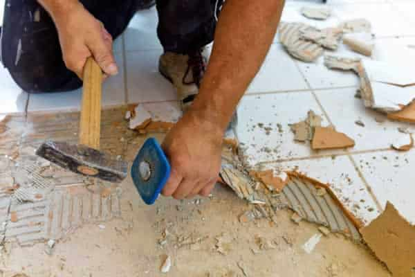 How To Tile A Bathroom Floor Removing Tiles
