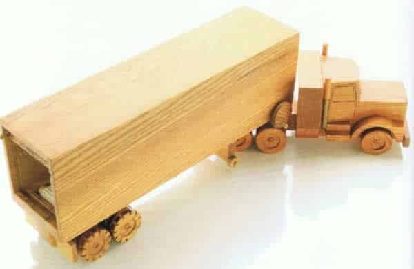 How to make a wooden semi truck - truck and trailer