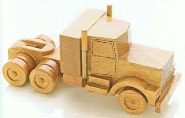 How to make a wooden semi truck