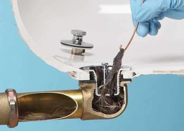 Easy solutions for clogged drains - wire hanger