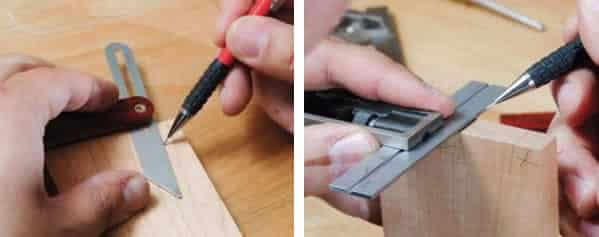 How to cut dovetails - measuring