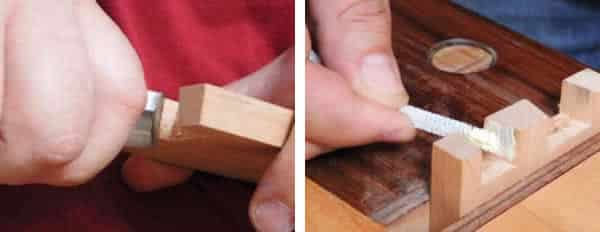 How to cut dovetails - paring