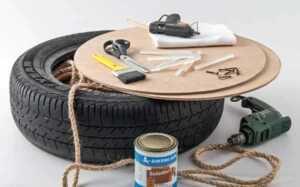 DIY tire chair - materials