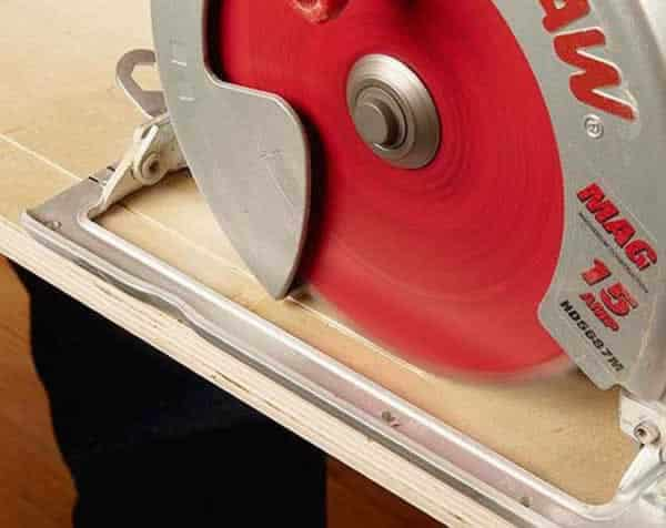 How to cut plywood without tear out - circular saw