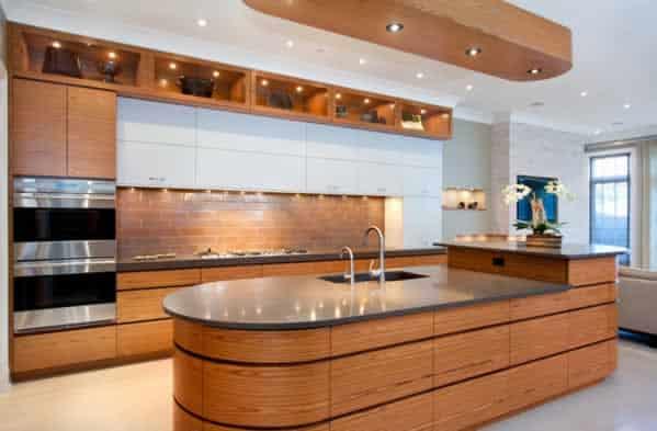 Functional kitchen design - island with sink