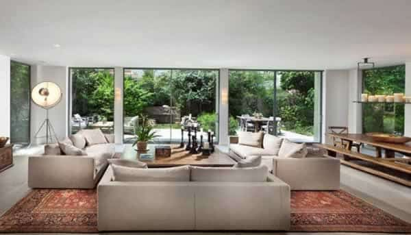 Antique rugs - living room