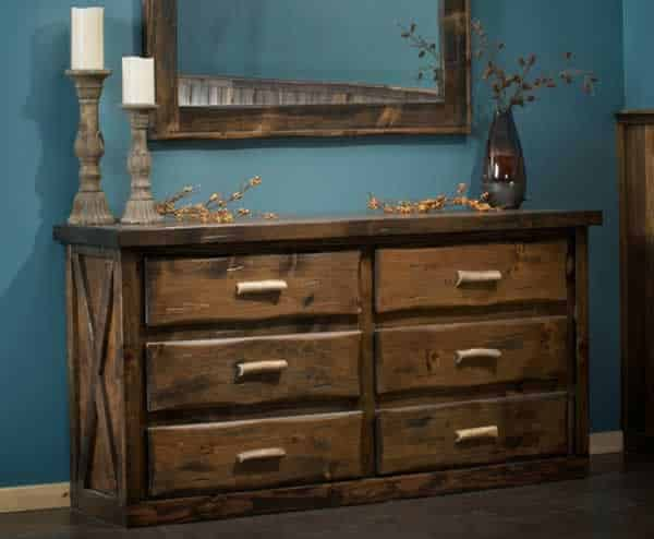 Rustic drawer dresser