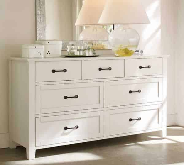 Standard horizontal drawer dresser