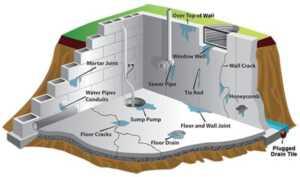Water damage - basement