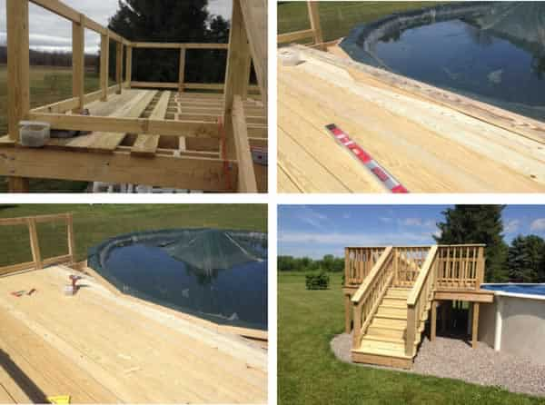 DIY pool deck - decking