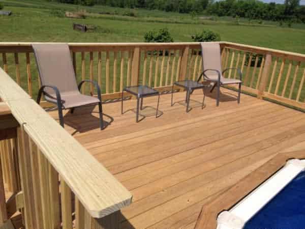 DIY pool deck - finished