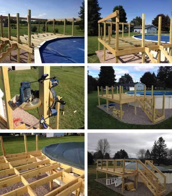 DIY pool deck - joists