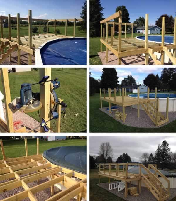 DIY pool deck - joists
