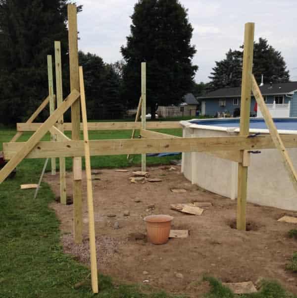 DIY pool deck - main frame