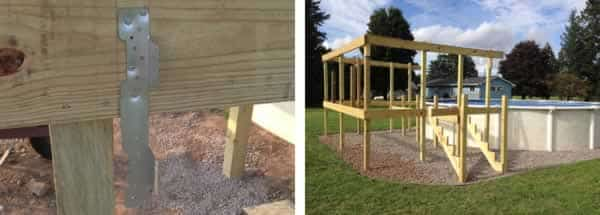 DIY pool deck - stairs