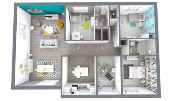 Cedar architect 3D - floor plan