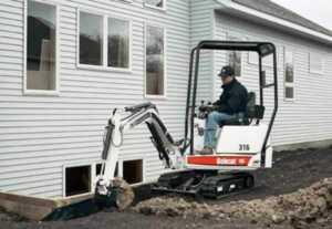 Buy or rent a mini excavator