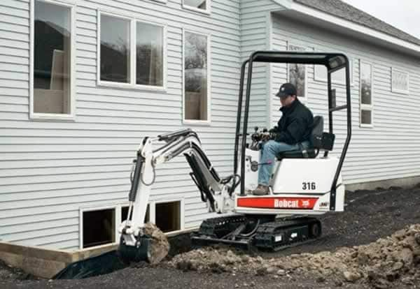 Buy or rent a mini excavator