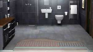 Bathroom heating options - Radiant floor heating