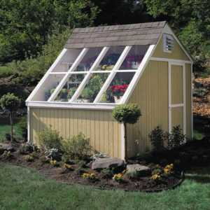 Eco friendly ways to use a shed - glass roof