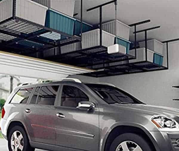 Garage space on a budget - hanging racks