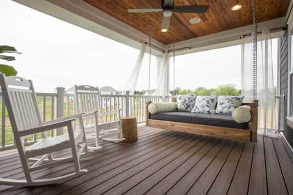 Tips for building a granny flat - porch swing
