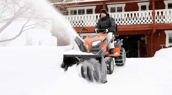 Snow removal tools - Husqvarna tractor snow blower